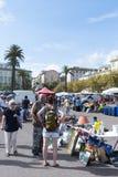 Уличный рынок в Bastia, Корсике, Франции стоковые изображения rf