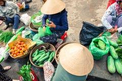Уличный рынок в Hoi, Вьетнаме Стоковое Изображение