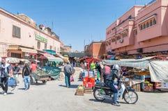 Уличный рынок в Marrakech Стоковое Изображение RF