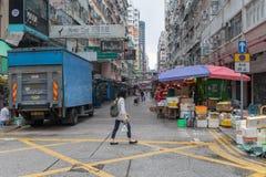 Уличный рынок Mong Kok Стоковое Изображение RF