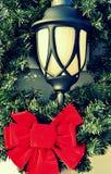 Уличный фонарь на рождестве Стоковые Фото