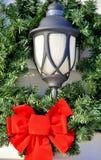 Уличный фонарь на рождестве Стоковая Фотография RF
