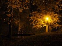 Уличный фонарь на сумраке Стоковое фото RF