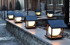 Уличный фонарь, освещая Стоковые Изображения