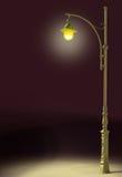 Уличный фонарь светит бесплатная иллюстрация