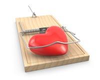 уловленная ловушка мыши сердца Стоковая Фотография
