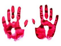 уловленный врученный красный цвет стоковое изображение rf
