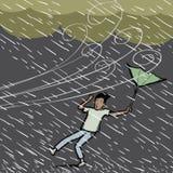 уловленный дождь Стоковая Фотография