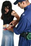 уловленный shoplifting Стоковое Изображение RF