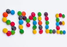 Улыбка написанная конфетой Стоковые Фотографии RF