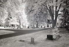 Ультракрасное фото кладбища Стоковые Фотографии RF