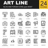 Ультрамодная линия пакет значка для дизайнеров и разработчиков Стоковая Фотография