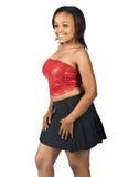 Ультрамодная молодая чернокожая женщина Стоковое фото RF