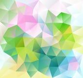 Ультрамодная полигональная розовая зеленая картина Предпосылка треугольников Vector иллюстрация, элемент дизайна для крышки, знам стоковые фотографии rf
