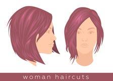 Ультрамодная стрижка женщины бесплатная иллюстрация