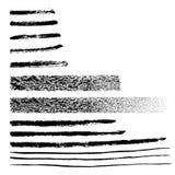 Ультрамодной линии и ходы grunge нарисованные рукой графические Затрапезным элементы текстурированные прямоугольником Изолированн Стоковая Фотография