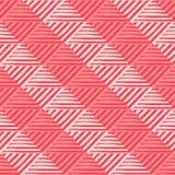 Ультрамодные безшовные дизайны картины Мозаика striped квадратов Vector геометрическая предпосылка иллюстрация штока