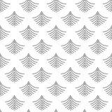 Ультрамодные черные геометрические поставленные точки вентиляторы формируют картину на белизне иллюстрация вектора