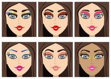 Ультрамодный макияж иллюстрация вектора