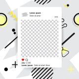 Ультрамодный editable шаблон для рассказов instagram, illustrat вектора иллюстрация штока