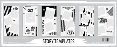 Ультрамодный editable шаблон для социальных рассказов сетей, иллюстрация вектора бесплатная иллюстрация