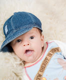 ультрамодное мальчика newborn Стоковые Фотографии RF