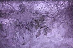 Ультрафиолетовый луч предпосылки картины льда абстракции Стоковое Изображение