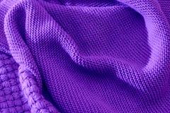 Ультрафиолетовый луч связал ткань сделанную heathered предпосылки текстурированной пряжей Стоковая Фотография