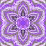 Ультрафиолетов нежная плитка, картина цветка треугольника влияния мандалы mosiac Стоковые Фотографии RF