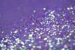 Ультрафиолетов предпосылка искры и звезд яркий и праздничный Стоковая Фотография