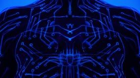 Ультрафиолетов психоделическая картина тела для музыки транса в ночном клубе сток-видео