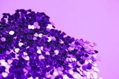 Ультрафиолетов сердца яркого блеска Яркая и праздничная концепция приветствию ` s валентинки st Стоковые Изображения