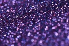 Ультра предпосылка искры violer яркий и праздничный Концепция ` s валентинки St приветствия Фото макроса Стоковое Изображение RF