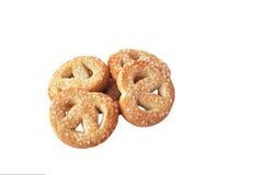 умаслите изолированные печенья Стоковые Фото