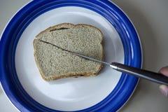 умаслите сандвич арахиса путя студня клиппирования изолированный изображением Стоковые Изображения RF