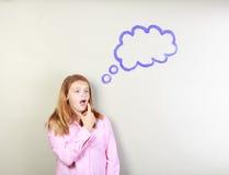 думать девушки предназначенный для подростков Стоковые Изображения RF