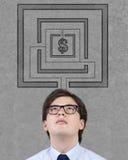 думать серии финансов бизнесмена дела Стоковые Фото