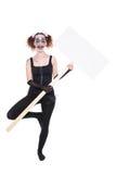 Умалишённый женский артист балета Стоковые Изображения RF