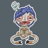 Умалишённый мальчик, иллюстрация шаржа бесплатная иллюстрация