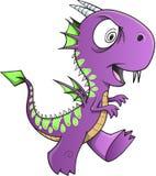 Умалишённый фиолетовый дракон Стоковая Фотография RF