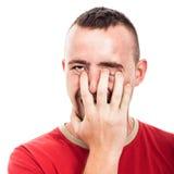 Умалишённый человек Стоковое фото RF