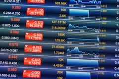 Уменшения фондовой биржи стоковое изображение rf