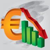 уменьшите евро иллюстрация вектора