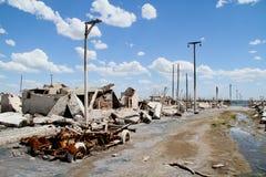 умершие города Аргентины epecuen Стоковая Фотография RF