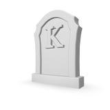 Умершие k Стоковая Фотография RF