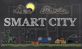 Умная иллюстрация города Стоковое Изображение