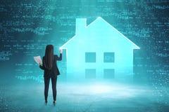 Умная концепция дома и безопасности стоковая фотография rf