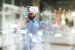 Умная концепция индустрии и автоматизации Интернет вещей IOT, концепция технологии стоковые изображения