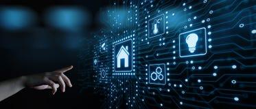 Умная система управления домашней автоматизации Концепция интернета технологии нововведения стоковое изображение rf