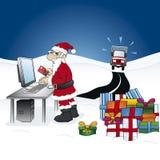 Умное Дед Мороз Стоковое Изображение